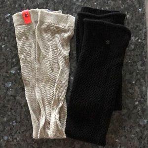 Lot of lululemon leg warmers